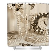 Vintage Dressing Table Shower Curtain
