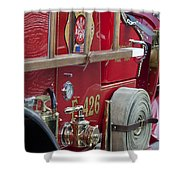 Vintage Fire Truck 2 Shower Curtain