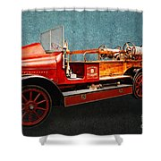 Vintage Fire Truck Shower Curtain