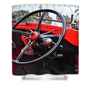 Vintage Ford - Steering Wheel... Controls - Circa 1920s Shower Curtain by Kaye Menner
