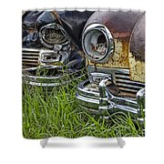 Vintage Frazer Auto Wreck Front Ends Shower Curtain