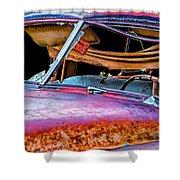 Vintage Frazer Front Window Auto Wreck Shower Curtain
