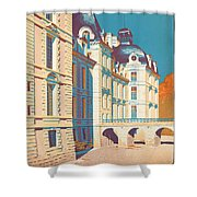 Vintage French Travel Poster Shower Curtain
