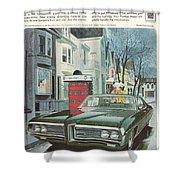 Vintage Gm Pontiac Shower Curtain