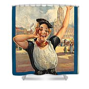 Vintage Holland Travel Poster Shower Curtain