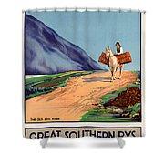Vintage Ireland Travel Poster Shower Curtain