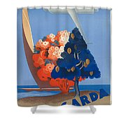Vintage Italia Travel Poster Shower Curtain