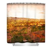 Vintage  Landscape Florence Italy Shower Curtain