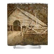 Vintage Looking Old Barn In The Great Smokey Mountains Shower Curtain