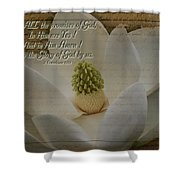 Vintage Magnolia With Verse Shower Curtain