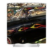 Vintage Metal Shower Curtain