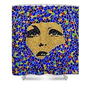Vintage Mosaic Sign 2 Shower Curtain