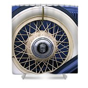 Vintage Nash Tire Shower Curtain by Kay Novy