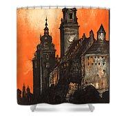 Vintage Poland Travel Poster Shower Curtain