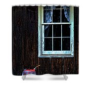 Vintage Porch Window And Gas Can Shower Curtain