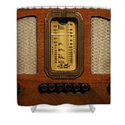 Vintage Radio Shower Curtain