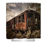 Vintage Rail Car Shower Curtain