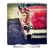 Vintage Red Car Shower Curtain