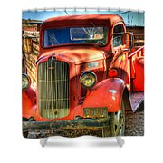 Vintage Red Dodge Shower Curtain