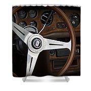 Vintage Rolls Royce Dash Shower Curtain