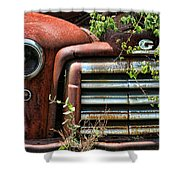 Vintage Rusty Dusty Gmc Graveyard Truck Shower Curtain