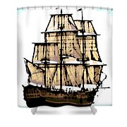 Vintage Sails Shower Curtain
