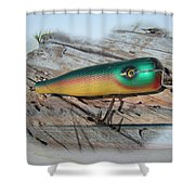 Vintage Saltwater Fishing Lure - Masterlure Rocket Shower Curtain