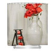 Vintage Sewing Table Shower Curtain