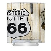 Vintage Sign Hysteric Butte 166 Shower Curtain