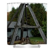 Vintage Stump Puller Shower Curtain