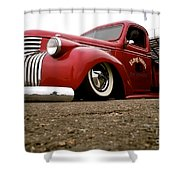 Vintage Style Hot Rod Truck Shower Curtain