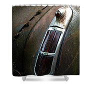 Vintage Tail Light Shower Curtain