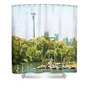 Vintage Toronto Shower Curtain