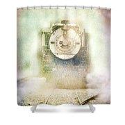 Vintage Train Engine Shower Curtain