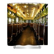 Vintage Trolley 7 Shower Curtain