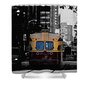 Vintage Trolley Shower Curtain