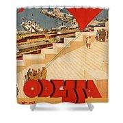 Vintage Ukraine Travel Poster Shower Curtain