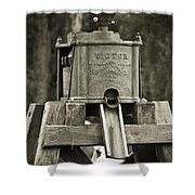 Vintage Water Pump Shower Curtain