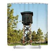 Vintage Water Station Shower Curtain