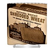 Vintage Wheat Shower Curtain