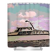 Vintage Yacht Shower Curtain