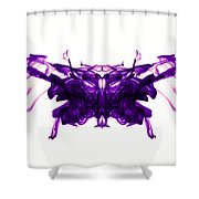 Violet Abstract Butterfly Shower Curtain