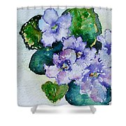 Violet Cluster Shower Curtain