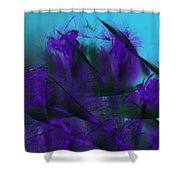 Violet Growth Shower Curtain