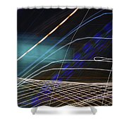 Violet Illusions Shower Curtain