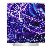 Violet Neon Lights Shower Curtain