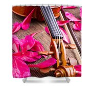 Violin And Roses Shower Curtain