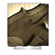 Violin Isolated Shower Curtain
