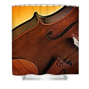 Violin Isolated On Gold Shower Curtain
