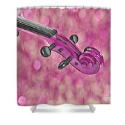 Violinelle - Pink 01b Shower Curtain